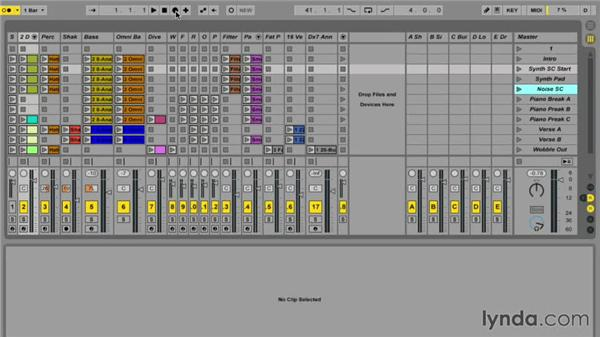 Recording from Session view to Arrangement view: Ableton Live 9 Essential Training