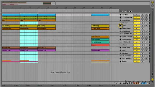 Copying, duplicating, and editing clips in Arrangement view: Ableton Live 9 Essential Training