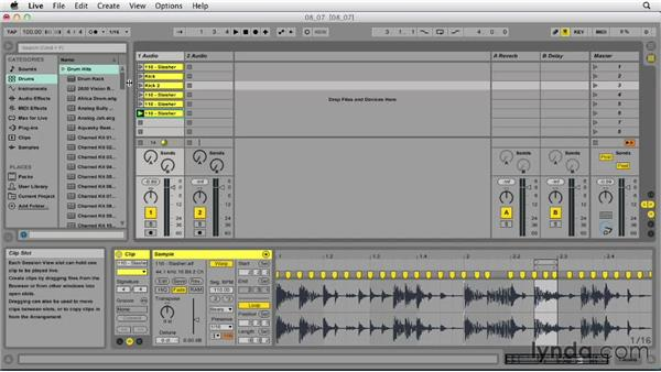 Reworking clips: Ableton Live 9 Essential Training
