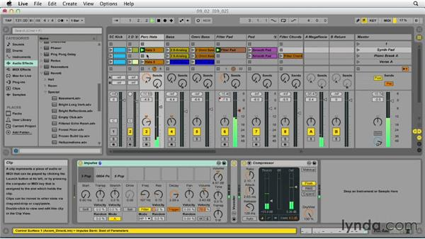 Using sends and returns: Ableton Live 9 Essential Training