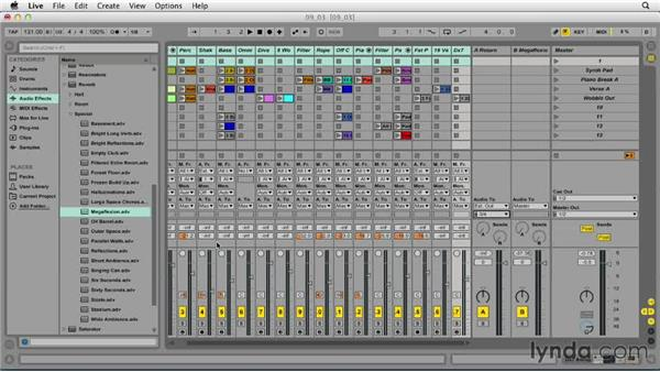 Building headphone cues: Ableton Live 9 Essential Training