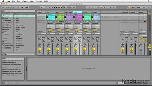 Grouping tracks: Ableton Live 9 Essential Training