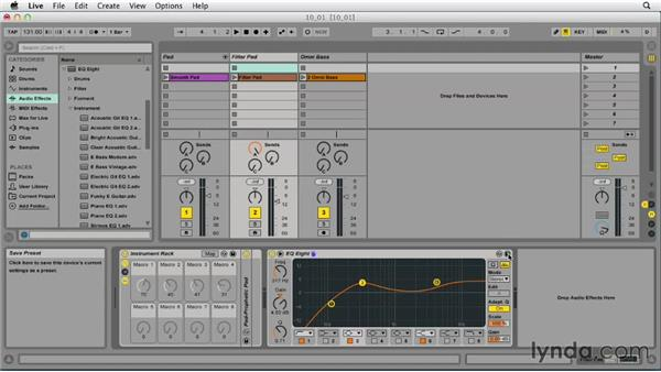 Working with effect devices: Ableton Live 9 Essential Training