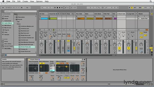 Using reverb effectively: Ableton Live 9 Essential Training