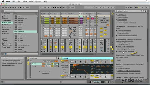 Using the instant mapping feature: Ableton Live 9 Essential Training
