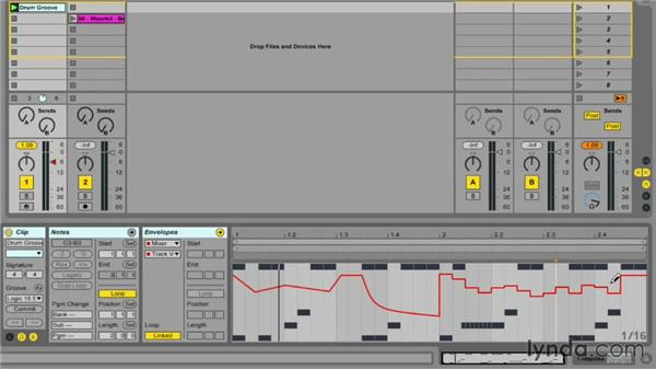 Automating clips in Session view: Ableton Live 9 Essential Training