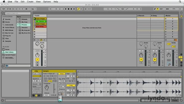 Understanding the basics of warping: Ableton Live 9 Essential Training