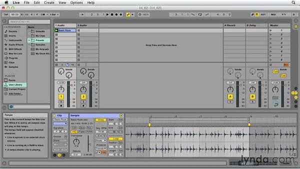 Creating clips that loop smoothly: Ableton Live 9 Essential Training