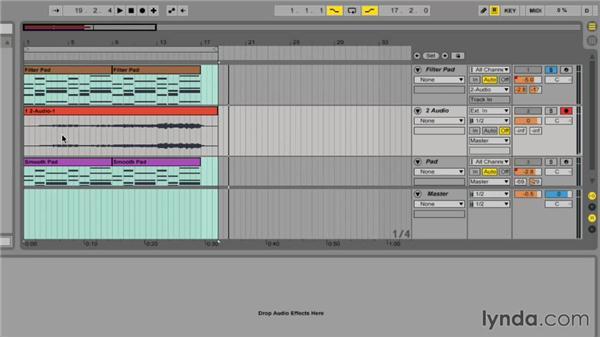 Freezing tracks: Ableton Live 9 Essential Training