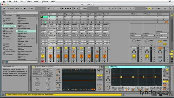 Using Impulse as a multi-output instrument: Ableton Live 9 Essential Training