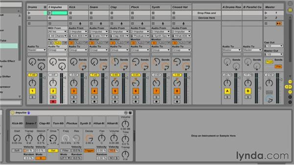 Getting the most out of Impulse instrument parameters: Ableton Live 9 Essential Training