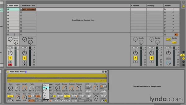 Tweaking the parameters of Simpler: Ableton Live 9 Essential Training