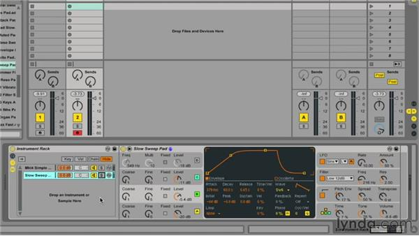 Utilizing instrument racks: Ableton Live 9 Essential Training