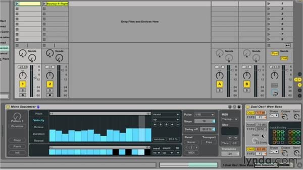 Exploring the Mono Sequencer in Max for Live: Ableton Live 9 Essential Training