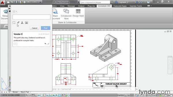 Collaborating using Design Feed: AutoCAD 2014 New Features
