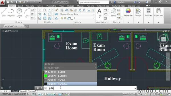 Accessing content from the command line: AutoCAD 2014 New Features