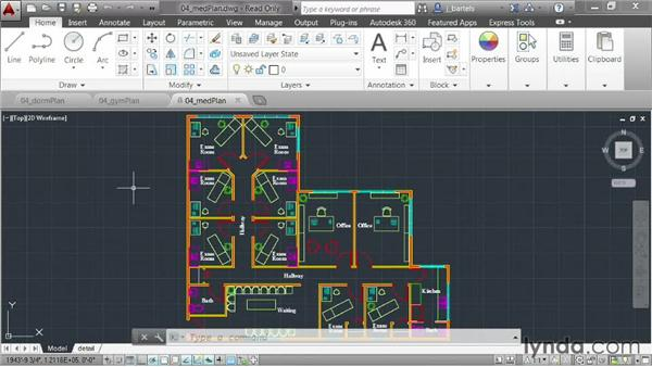 Using file tabs to manage drawings: AutoCAD 2014 New Features