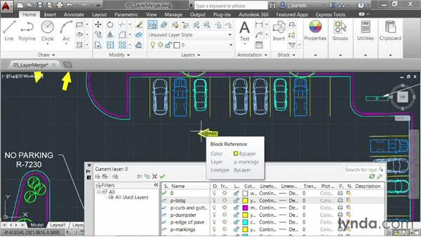 Merging objects into a single layer: AutoCAD 2014 New Features