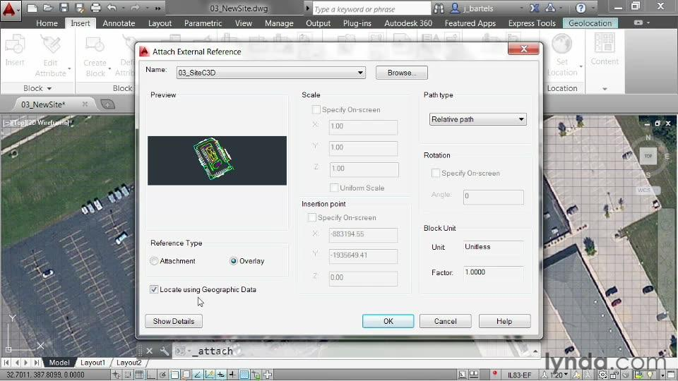 Drawing Lines In Autocad Using Coordinates : Using a gis coordinate system to align drawings from the