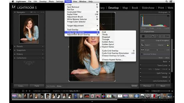 Using the aspect-ratio crop overlay: Lightroom 5 New Features