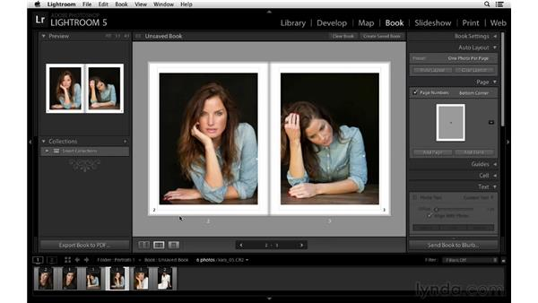 Including page numbers: Lightroom 5 New Features