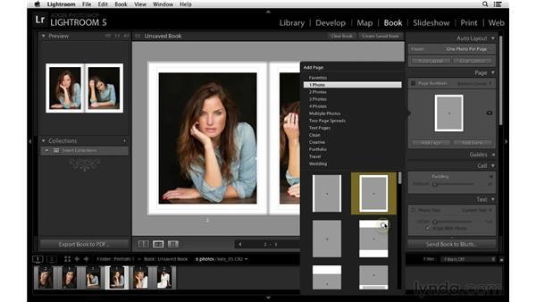 Identifying favorite page layouts: Lightroom 5 New Features