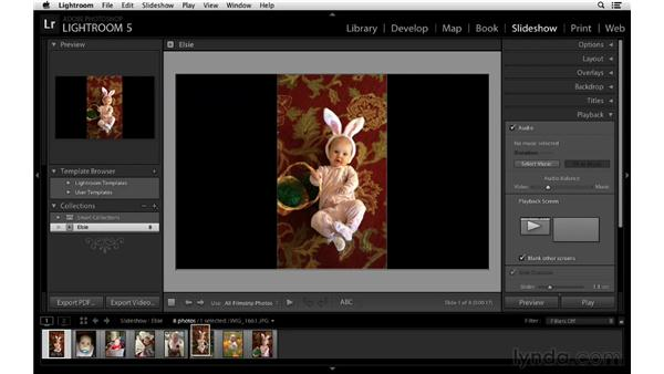 Building a slideshow with still images and video files: Lightroom 5 New Features