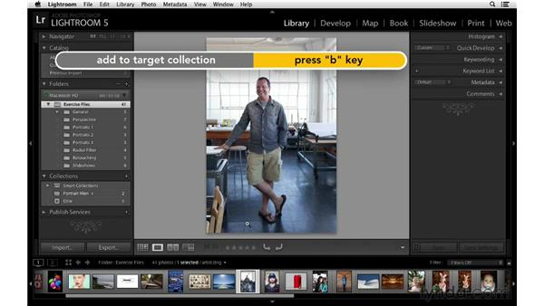 Using targeted collections with increased speed: Lightroom 5 New Features