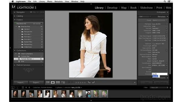 Adding direction metadata: Lightroom 5 New Features