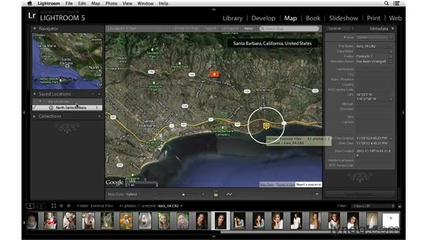 Dragging photos to saved Map locations: Lightroom 5 New Features