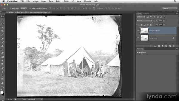 Adding density with multiply: Restoring Photos with Photoshop CS6