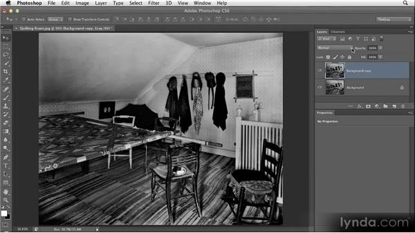 Opening up detail with the Screen blend mode: Restoring Photos with Photoshop CS6