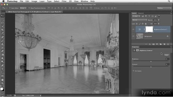 Basic brightness and contrast: Restoring Photos with Photoshop CS6