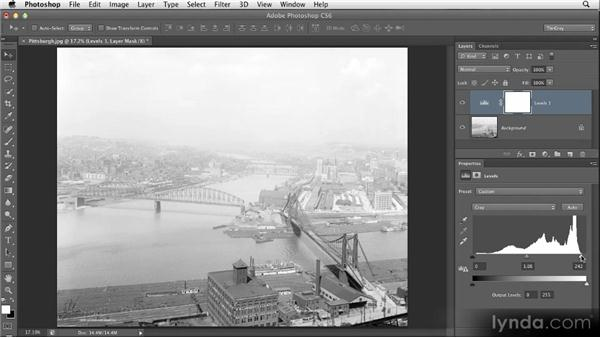 Using Levels to fine-tune contrast: Restoring Photos with Photoshop CS6