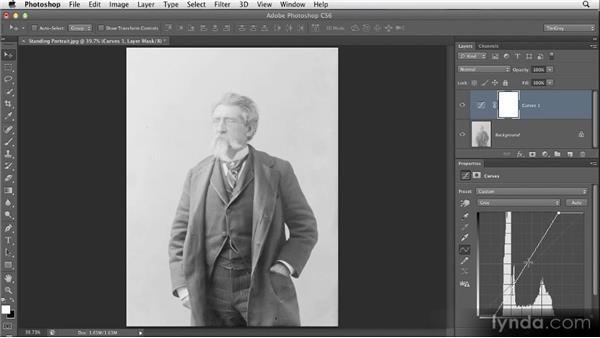 Optimizing tonality with Curves: Restoring Photos with Photoshop CS6