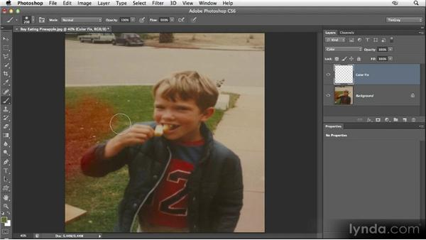 Painting in a color fix: Restoring Photos with Photoshop CS6