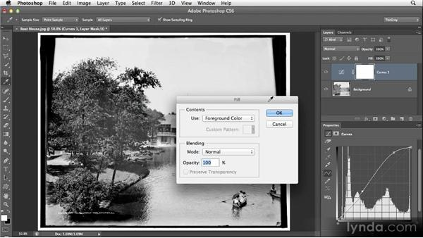 Painting an adjustment: Restoring Photos with Photoshop CS6