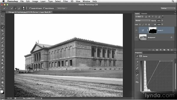 Mixing selections and painting for masks: Restoring Photos with Photoshop CS6