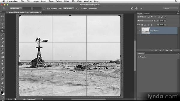 Cropping for cleanup: Restoring Photos with Photoshop CS6