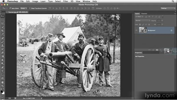 Flipping an image: Restoring Photos with Photoshop CS6