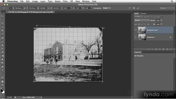 Correcting perspective: Restoring Photos with Photoshop CS6