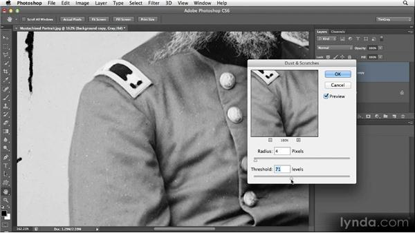 Using the Dust and Scratches filter: Restoring Photos with Photoshop CS6