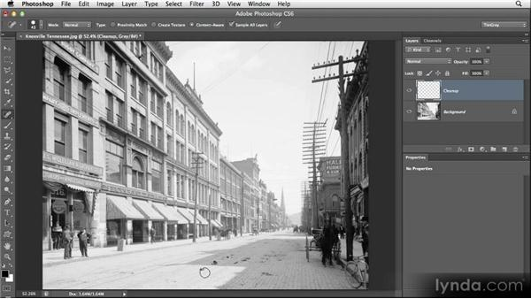 Removing blemishes with the Spot Healing Brush: Restoring Photos with Photoshop CS6