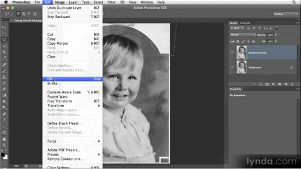 Filling in an area: Restoring Photos with Photoshop CS6