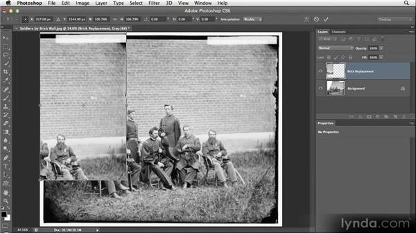 Manually patching an area: Restoring Photos with Photoshop CS6