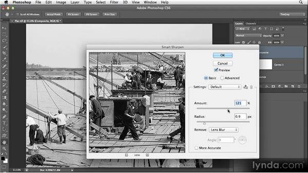 Applying sharpening: Restoring Photos with Photoshop CS6