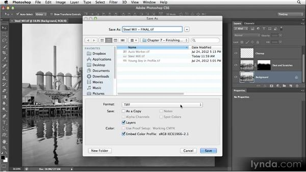 Saving the master image: Restoring Photos with Photoshop CS6