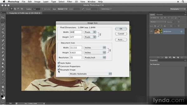 Creating an online version: Restoring Photos with Photoshop CS6