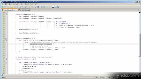 Using the cross-domain messaging API: HTML5 Power Workshop