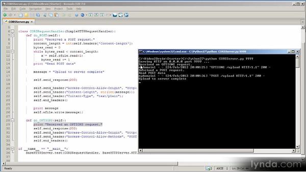 Implementing XMLHttpRequest Level 2 servers: HTML5 Power Workshop